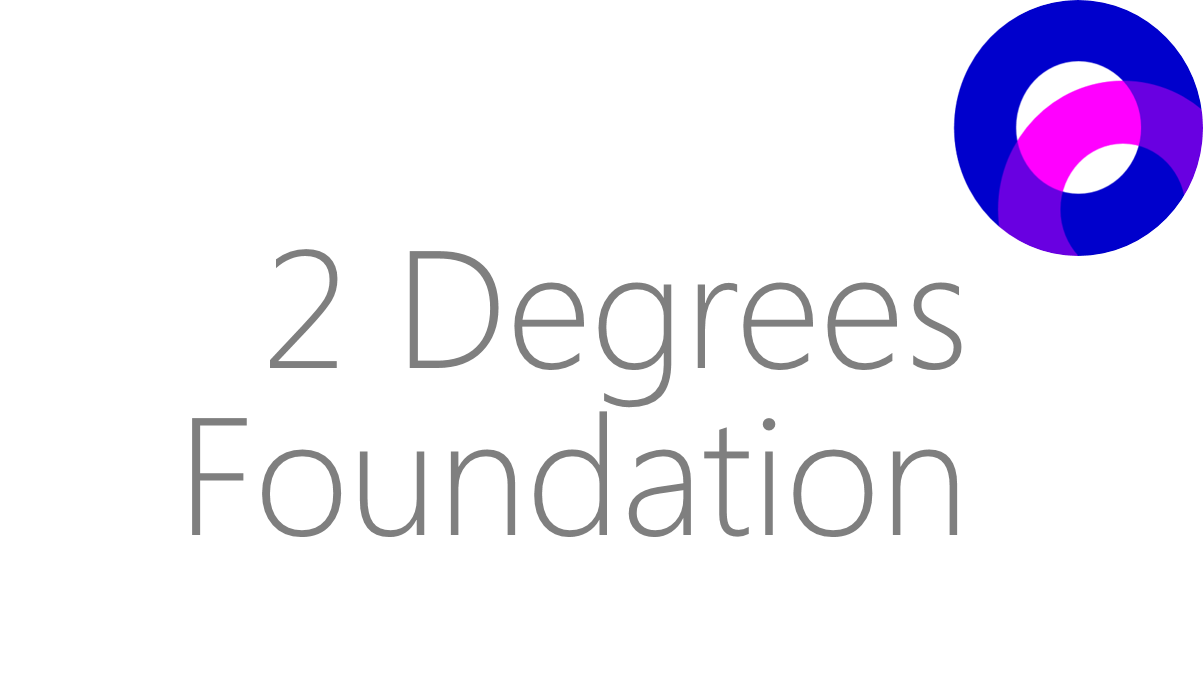 Logo of The 2 Degrees Foundation