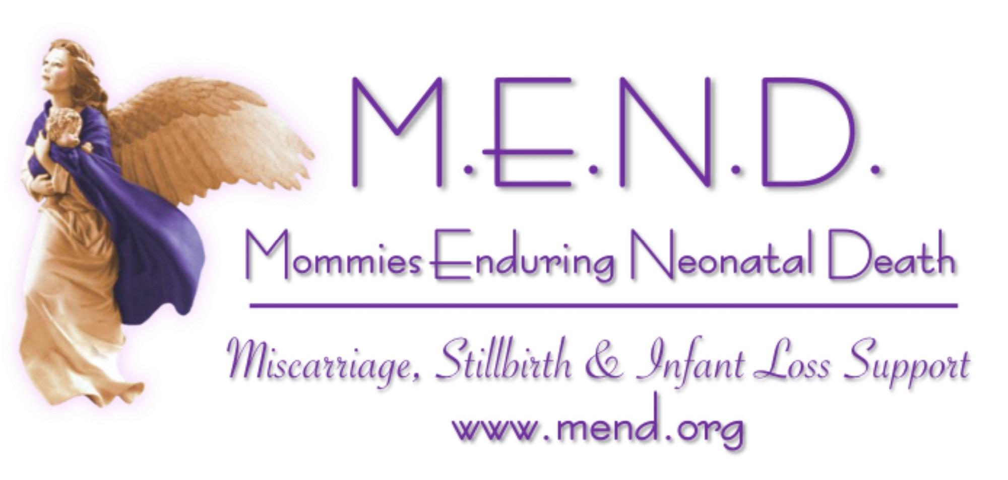 Logo of M.E.N.D. (Mommies Enduring Neonatal Death)